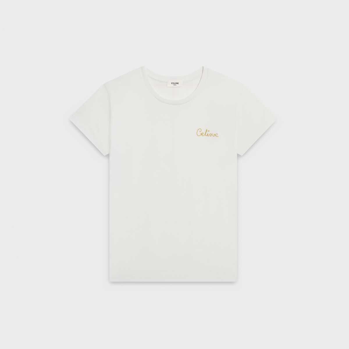 Celine Embroidered T Shirt In Cotton In 2021 Sweatshirt Shirt Embroidered Tshirt Shirts [ 1200 x 1200 Pixel ]