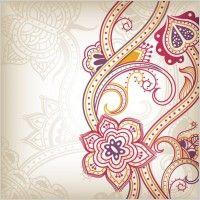 teste padrão floral abstrato fundo 03 vector