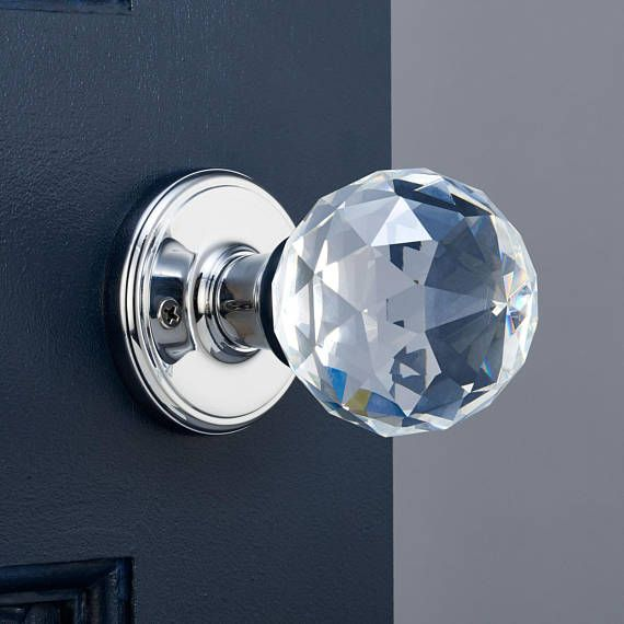 p122 chrome faceted crystal mortice door knobs bath knobs and