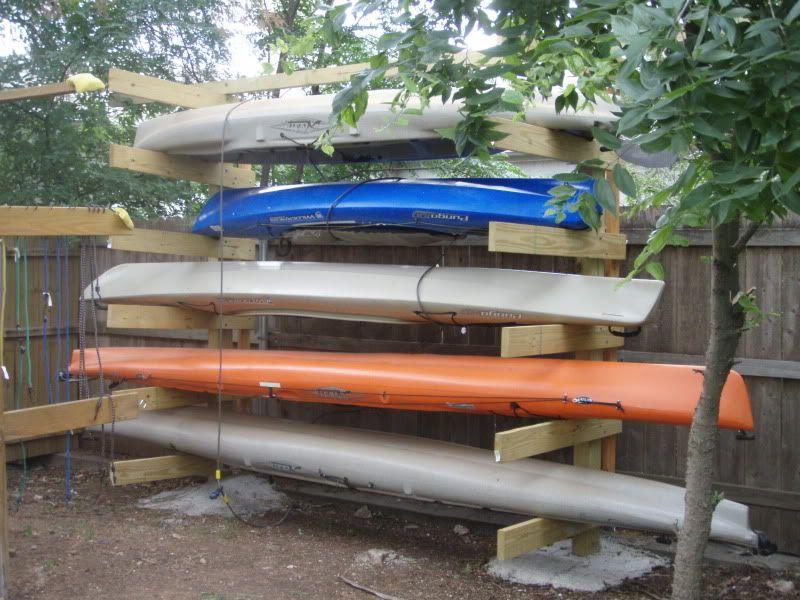 Nice Outdoor Kayak Storage Rack