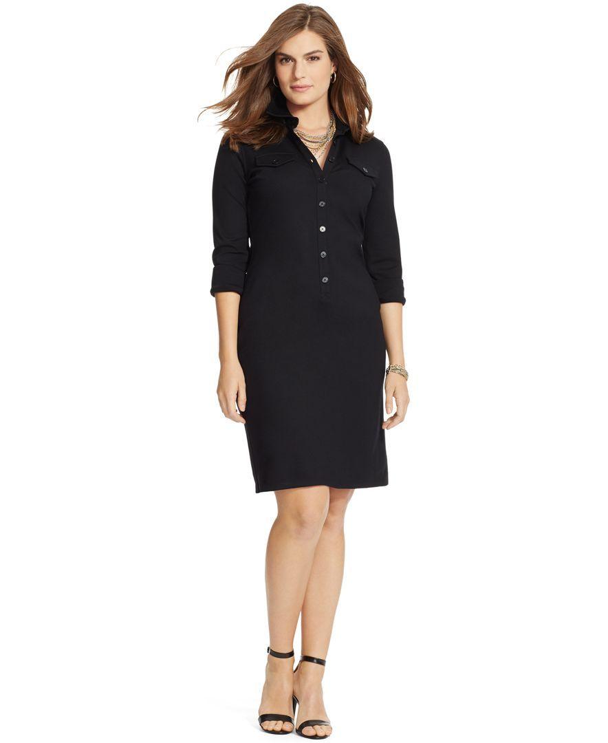 Lauren Ralph Lauren Plus Size Button Front Shirtdress Products