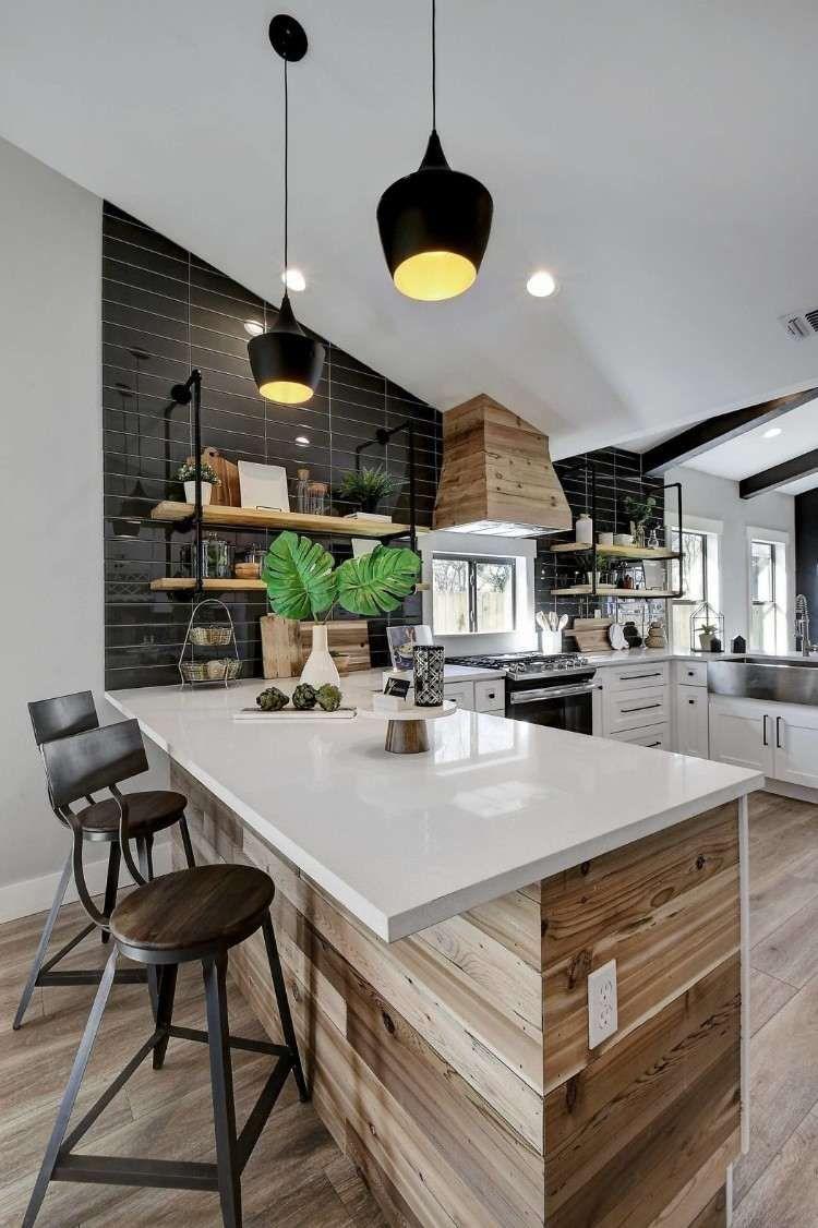 Lambris bois - une tendance chic et urbaine au sein d\'une maison ...