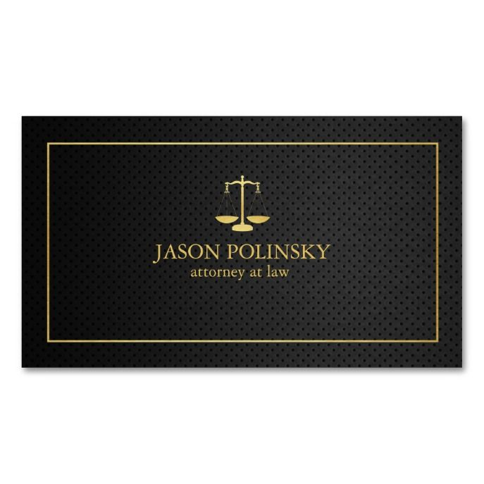 Elegant black and gold attorney at law business card lawyer elegant black and gold attorney at law business card reheart Choice Image