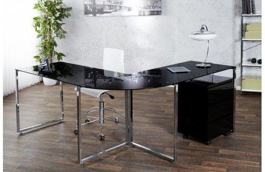Bureau design verre boss noir bureau design bureau