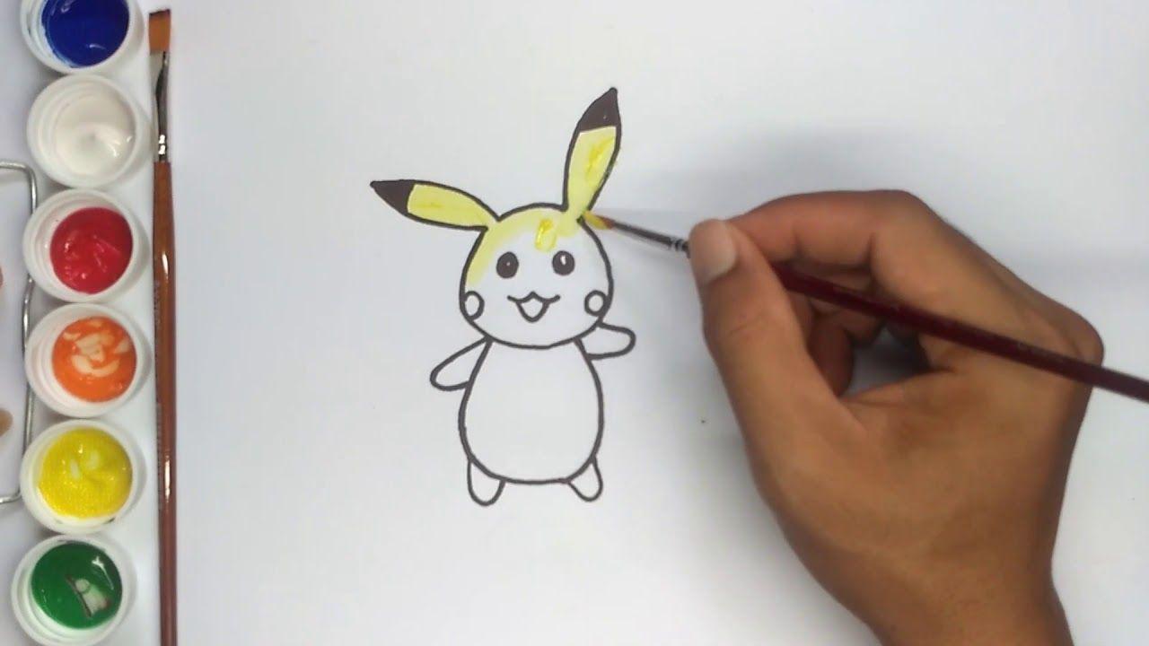 Koleksi 28 Gambar Kartun Pikachu Untuk Mewarnai KataUcap