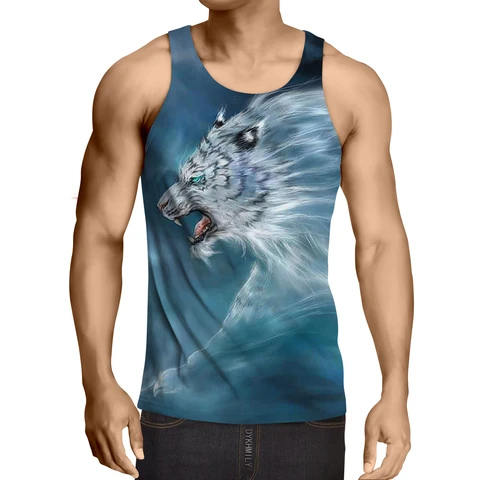 Scary Side View Look Of White Magical Tiger Epic Tank Top Tank Tops Tops Epic Tank