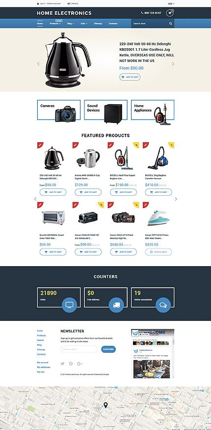 Home Electronics Online Store #Shopify #template. #themes #business ...