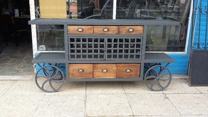 Mesa Para Tv Led Vintage Ruedas Hierro Y Bodega En Pilar Imagen 1 Furniture Home Decor Decor