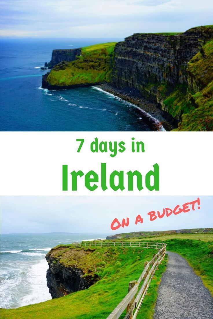 A guide to what to see in Ireland in 7 days on a budget,. This itinerary for the budget traveler