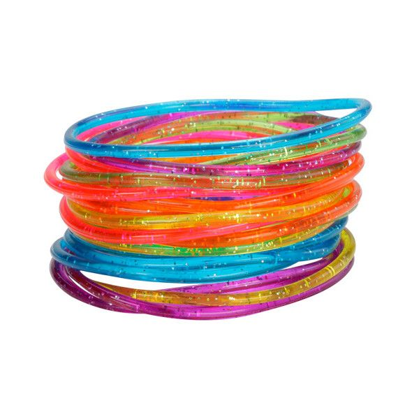 Glitter Jelly Bracelets I don't event know how many of these I owned but they were all the rage!