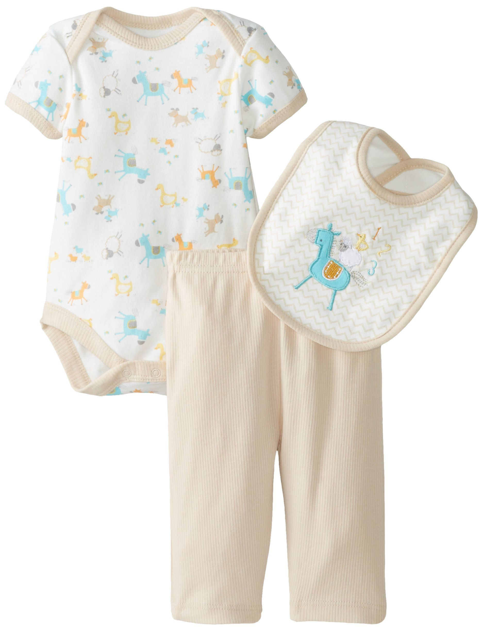 Rene Rofe Baby Uni Baby Newborn The Farm 3 Piece Pant Set with