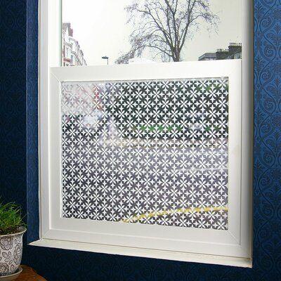 Stick Pretty Fleur Sheer Window Film Window Film Privacy Window