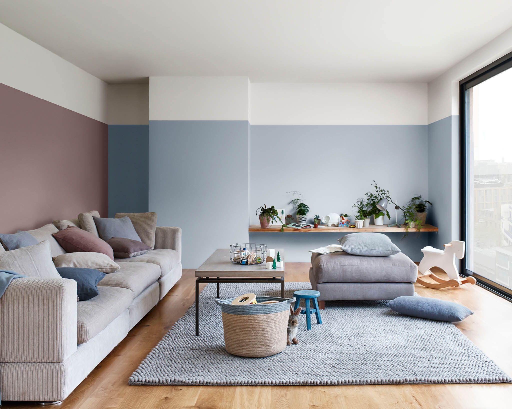 Sala De Estar Em Azul E Heart Wood Room Paint Colors For Living