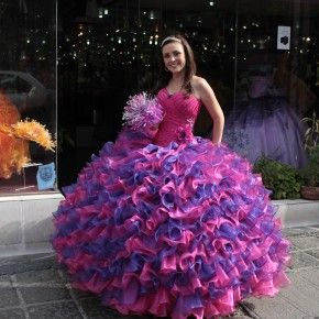 Rainbow Quinceanera Dresses Quinceañeras En La Lagunilla