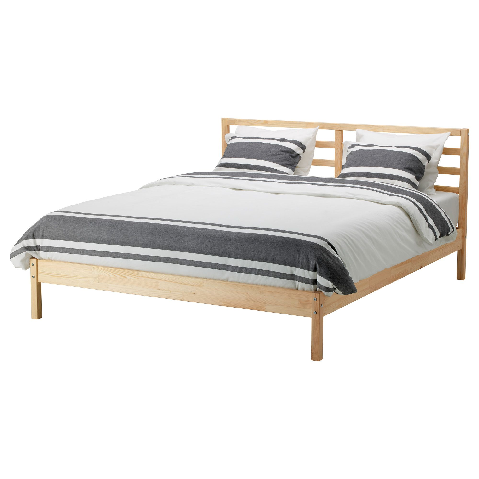 Simple bed frame design - Tarva Bed Frame Pine