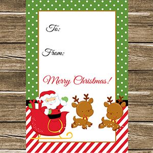 Santa Christmas Gift Tag Printable