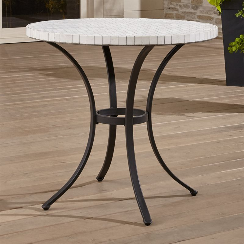 Shop Mosaic Bistro Table The Hexa Bistro Table 39 S Mosaic Of