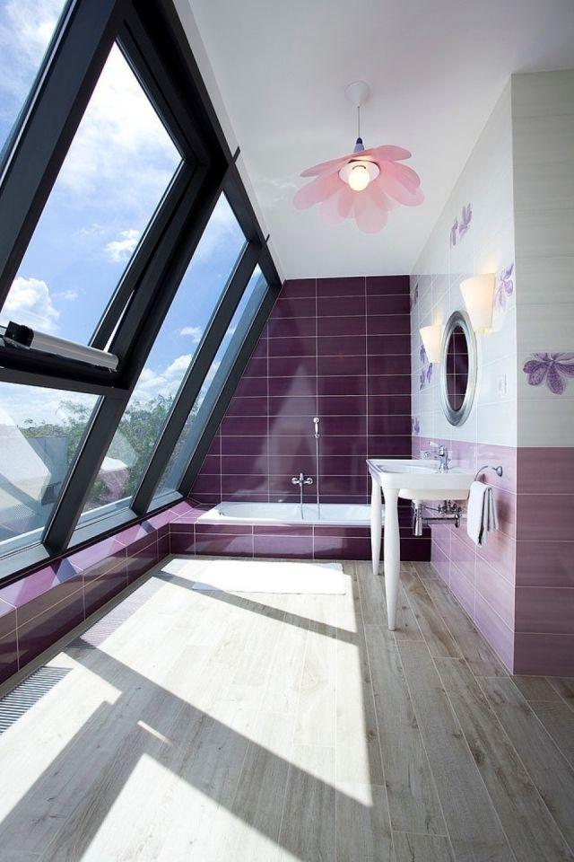 Parquet salle de bains stratifié en 24 photos inspirantes   Déco ...