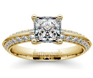 Princess Knife Edge Diamond Engagement Ring in Yellow Gold  http://www.brilliance.com/engagement-rings/knife-edge-diamond-ring-yellow-gold-1/2-ctw