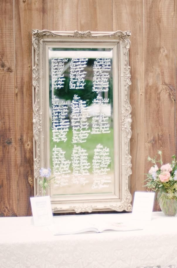 this  that mirror guest book seating chart shabby chic FRAMES