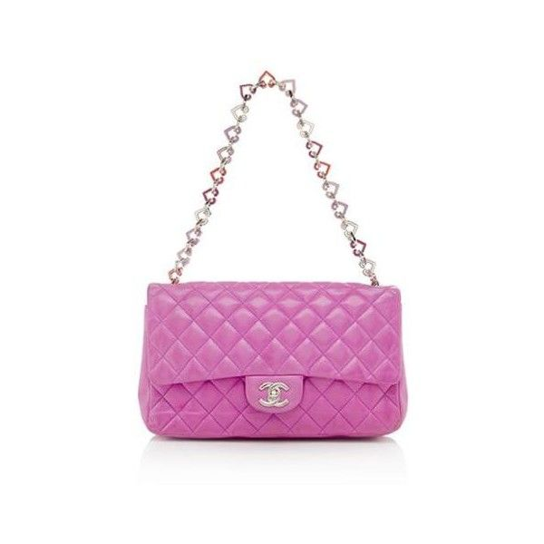 Chanel Valentine Flap Shoulder Bag (92 095 UAH) ❤ liked on Polyvore featuring bags, handbags, shoulder bags, chanel handbags, flap shoulder bag, shoulder bag purse, chain strap purse and fuschia purse