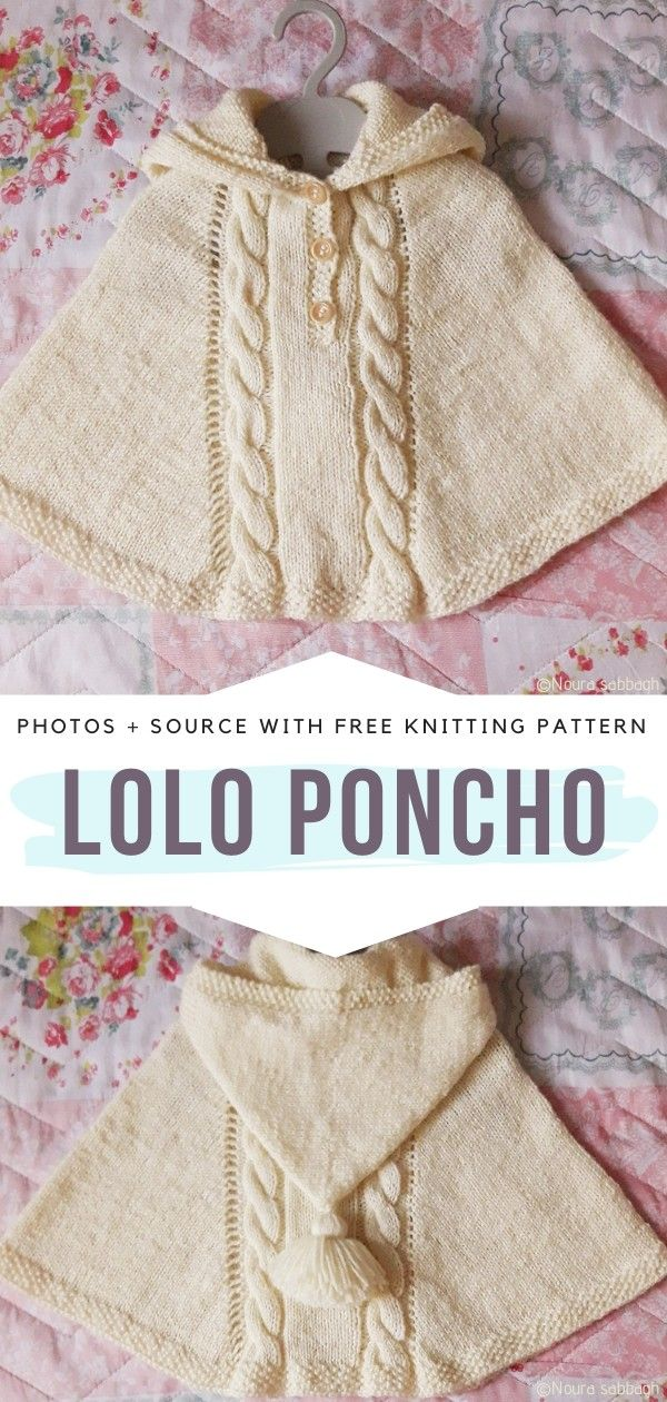 Photo of Charming Baby Girl Ponchos Free Knitting Patterns
