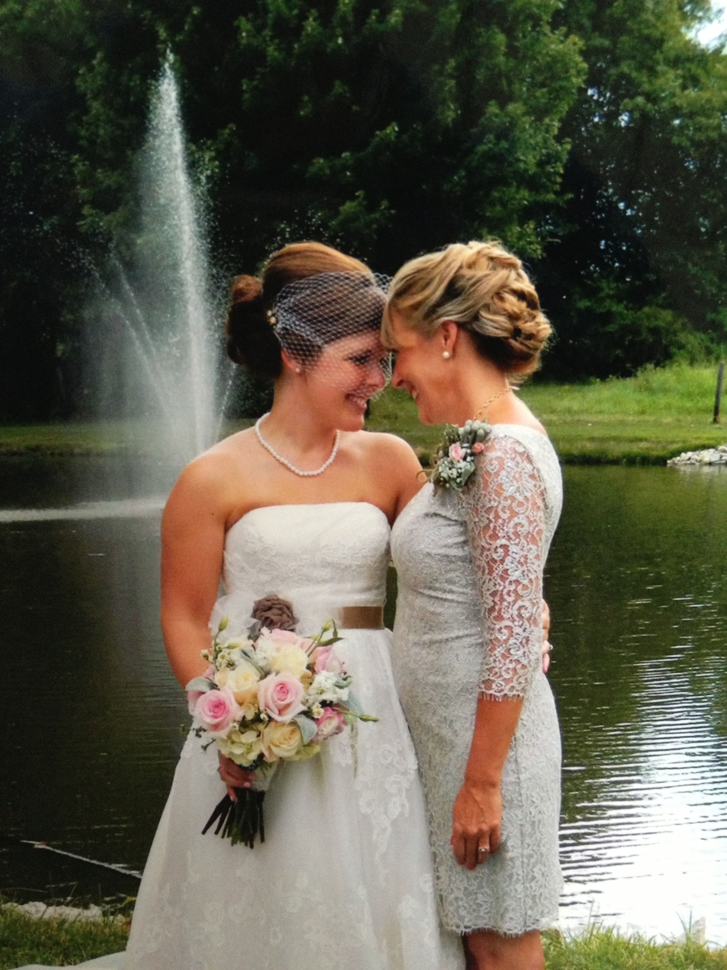 Mother daughter wedding picture we are best friends