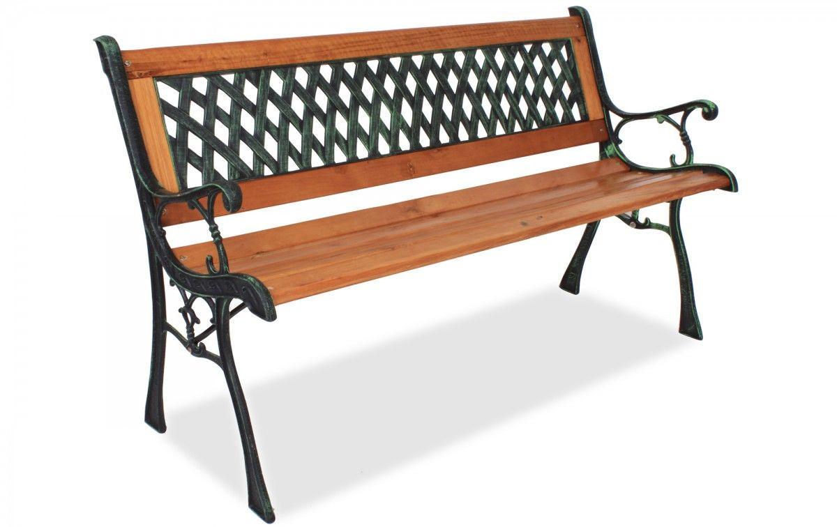 Gartenbank Holz Metall | Eisen Gartenbank | Pinterest