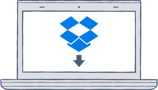 Downloading Dropbox    Your Dropbox download should automatically