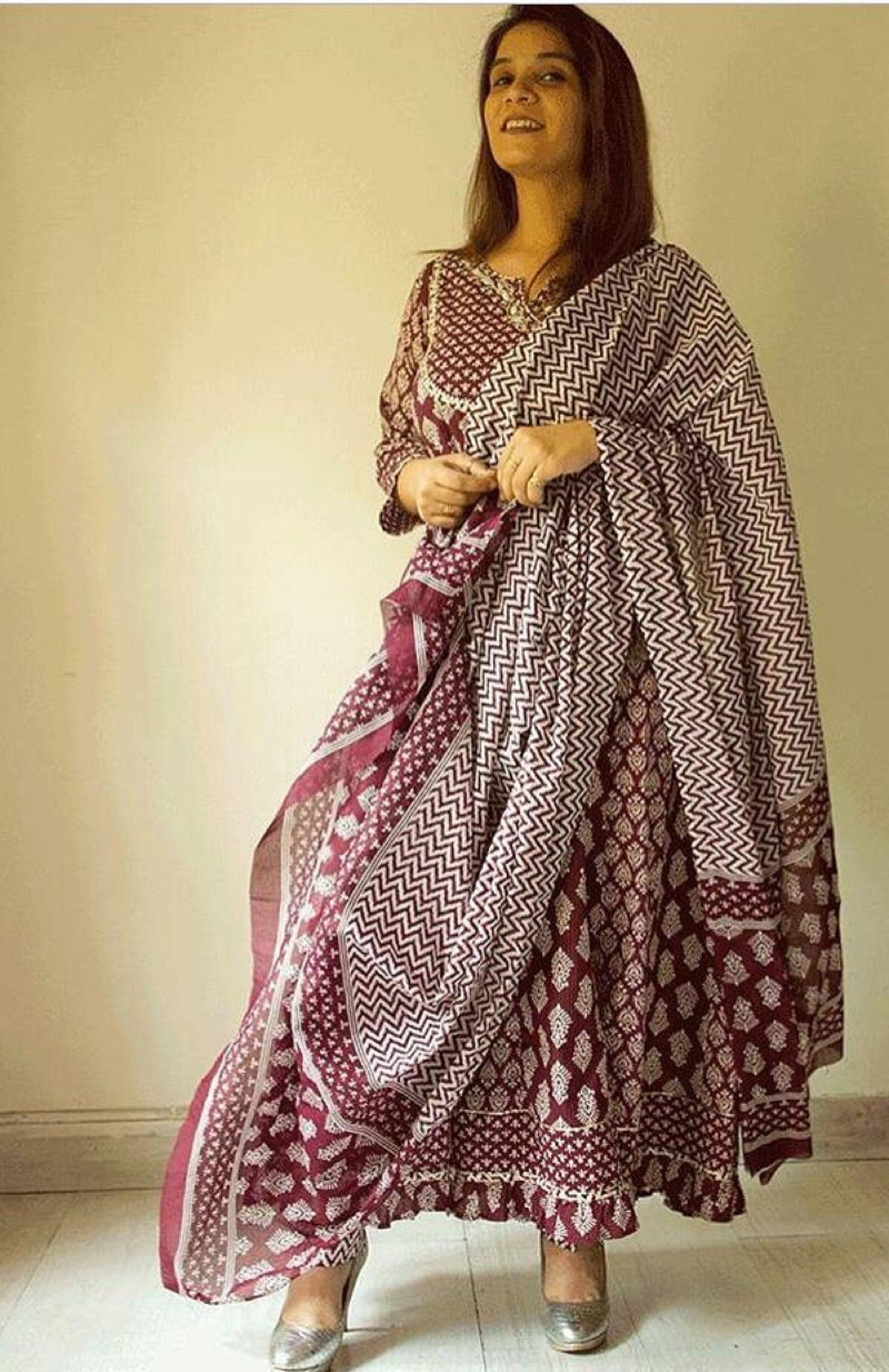 Indian Woman/'s Dresses Indian Bollywood Designer Pink Colour Kurti Pant With Dupatta Set Gift for her Christmas Day Special