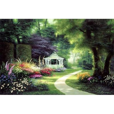 Tree Lined Path by Egidio Antonaccio Gardens Art Print
