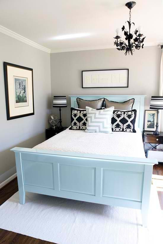 Could Paint My Old Bed Frame This Colour Guest Bedroom Design