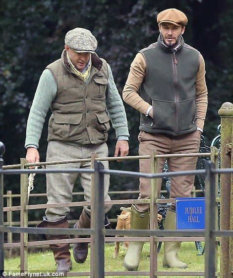 0345ef668d1 Country style files  Retired footballer David looked decidedly stylish as  he joined his pal for their fun-filled rural adventure