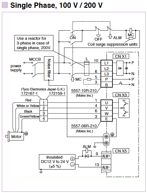 Minas E Series Wiring Connection Panasonic Industrial Devices Connection Diagram P Power