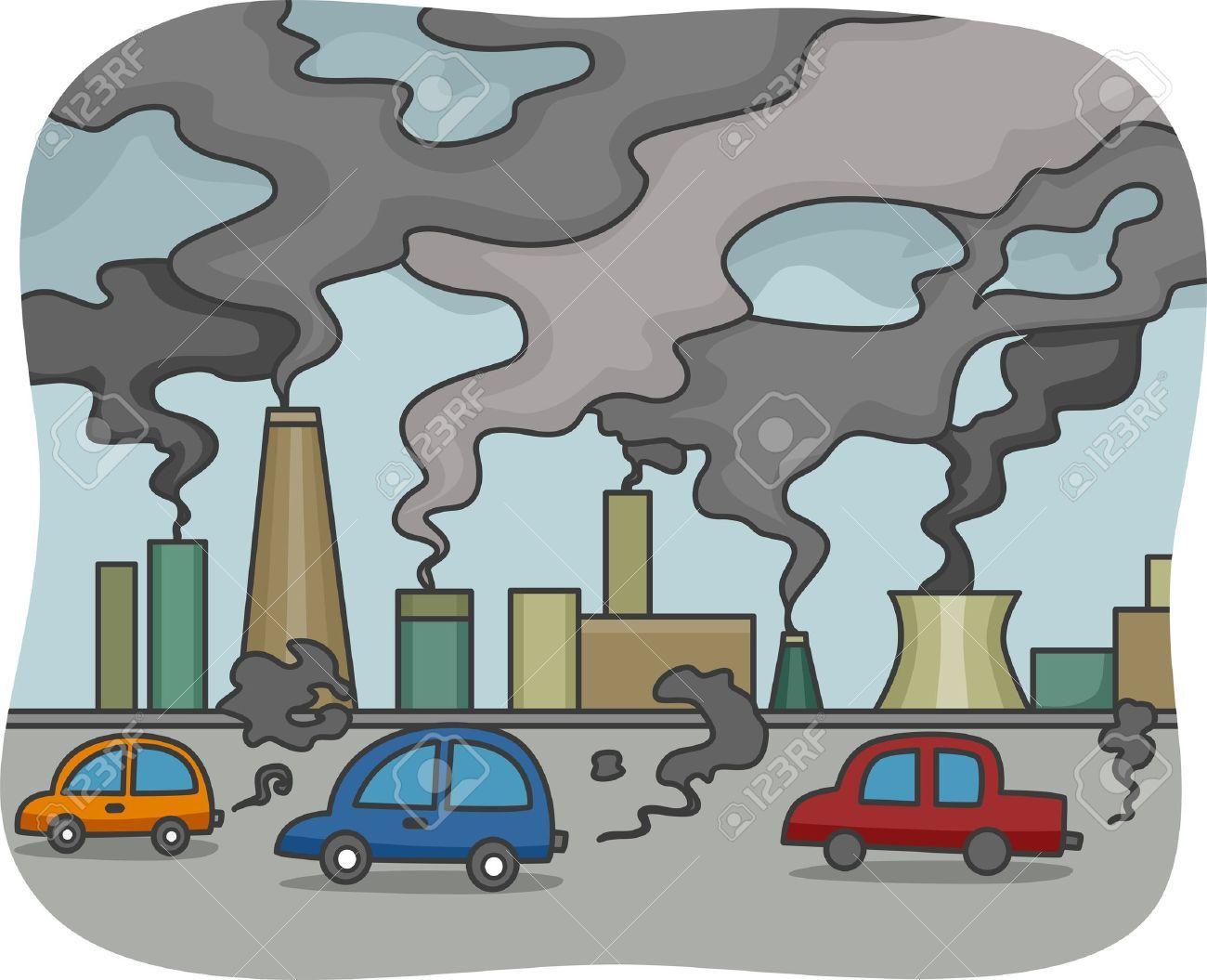 Contaminacion Dibujo Industria