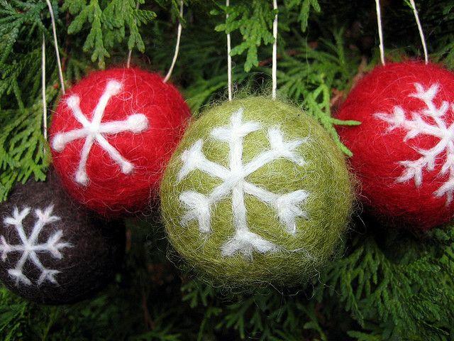 Felt Christmas Decorations Uk.Felt Ornaments Needle Felting Felt Christmas Christmas