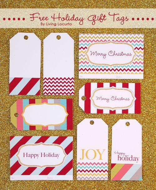 Free Printable Holiday Tags {Gift Exchange} Free printable gift