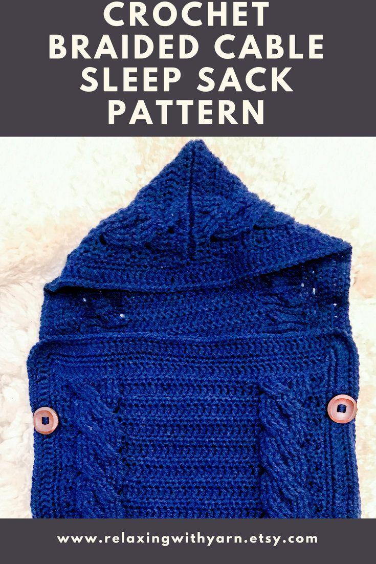 Crochet Baby Sleeping Bag Pattern Baby Cocoon Pattern Hooded