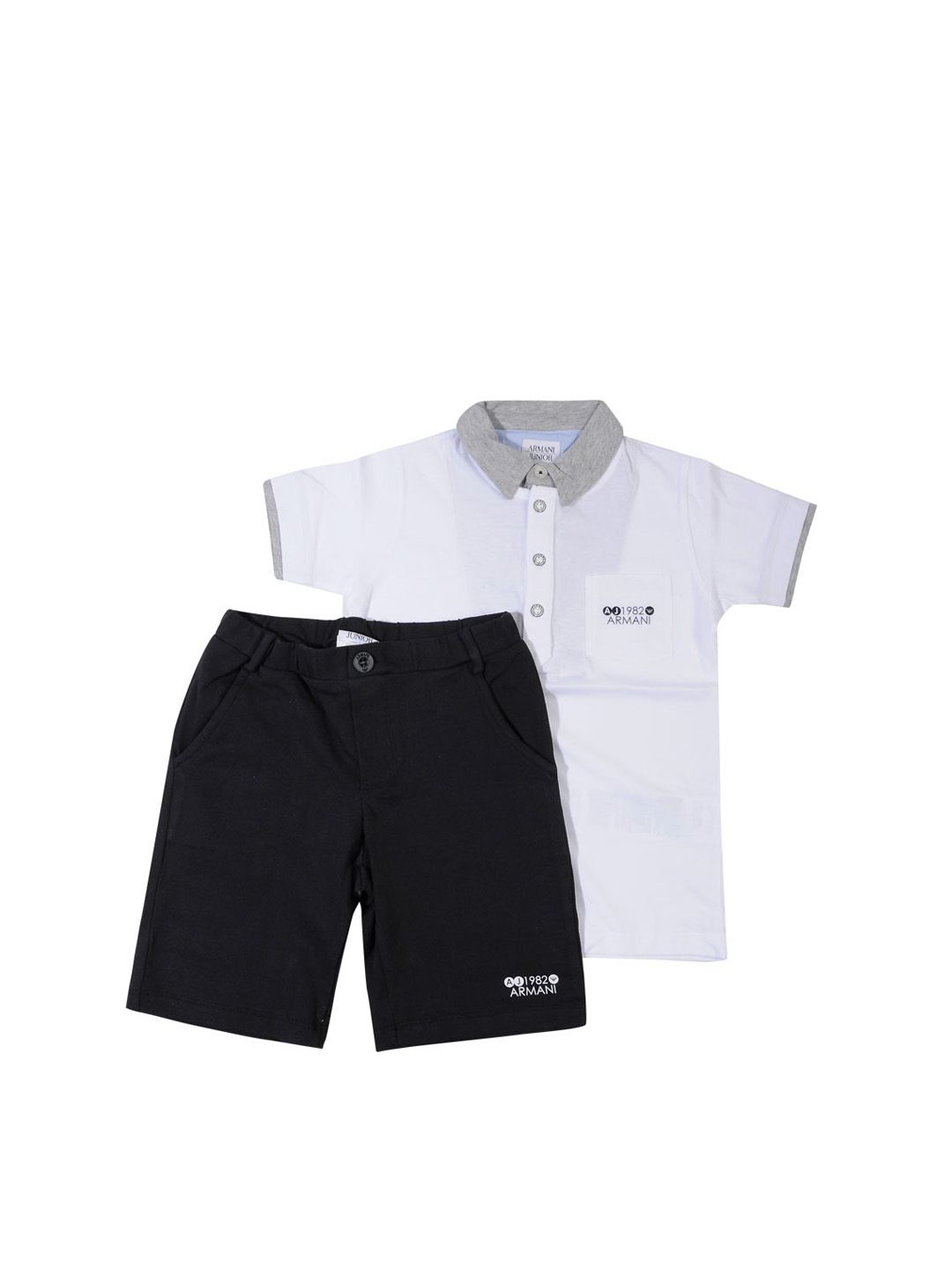 White Top And Black Shorts Set - On Sale - Mistile