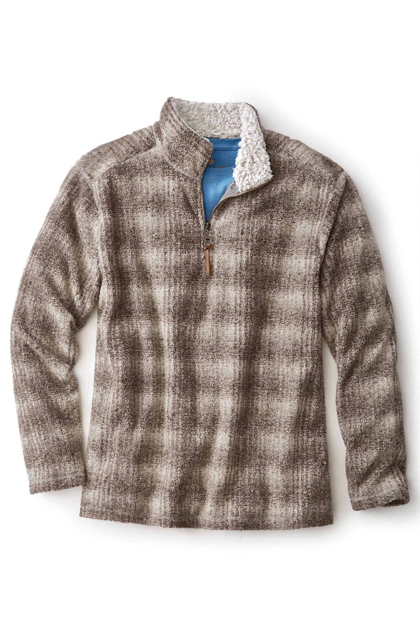 Melange Shadow Plaid Fleece Pullover from True Grit® | Territory ...