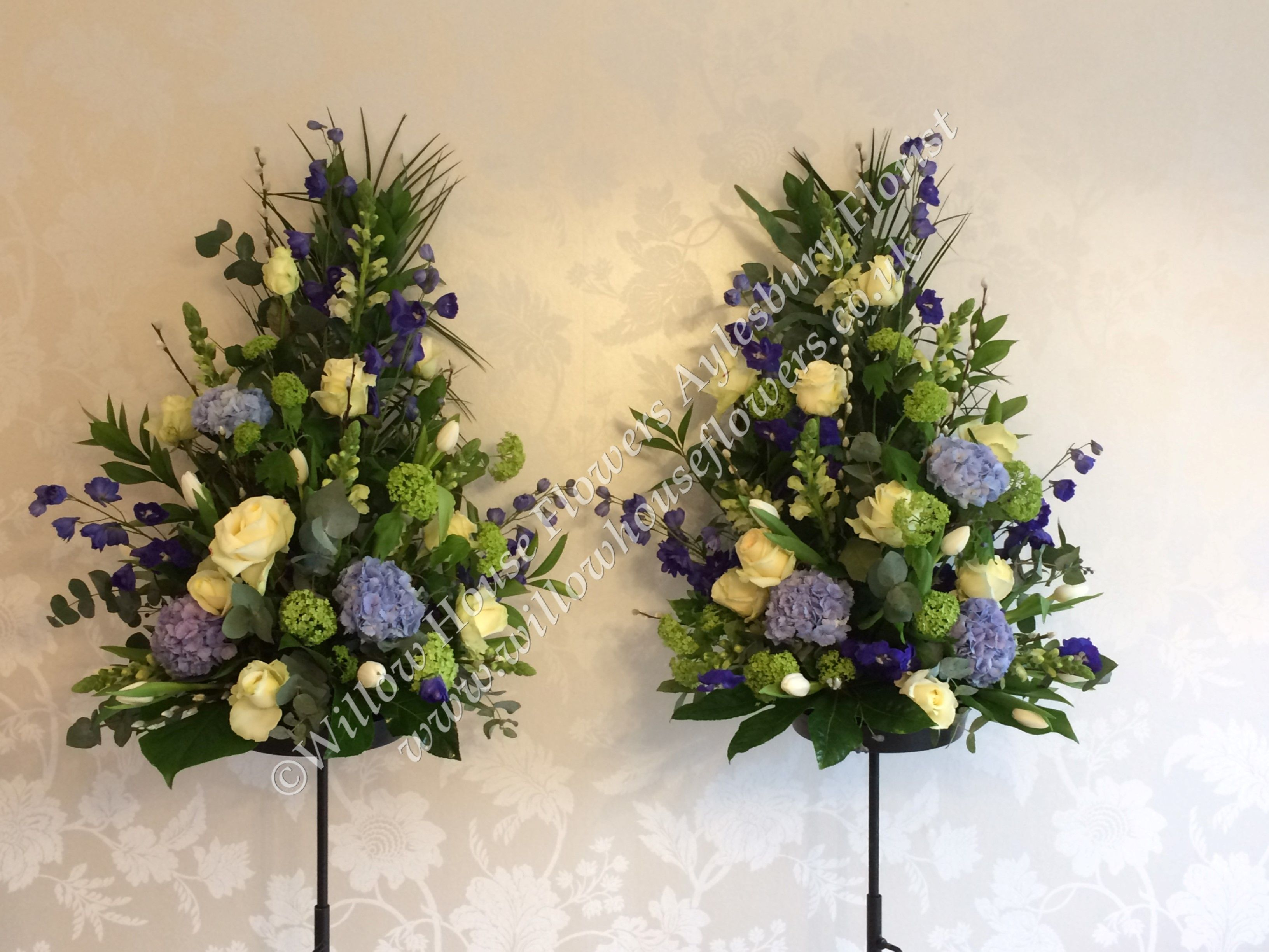 Fresh flower floral arrangement churchregistry office pedestal willow house flowers aylesbury florist free same day delivery in aylesbury bucks local on line florist for next day local delivery flowers bouquets izmirmasajfo