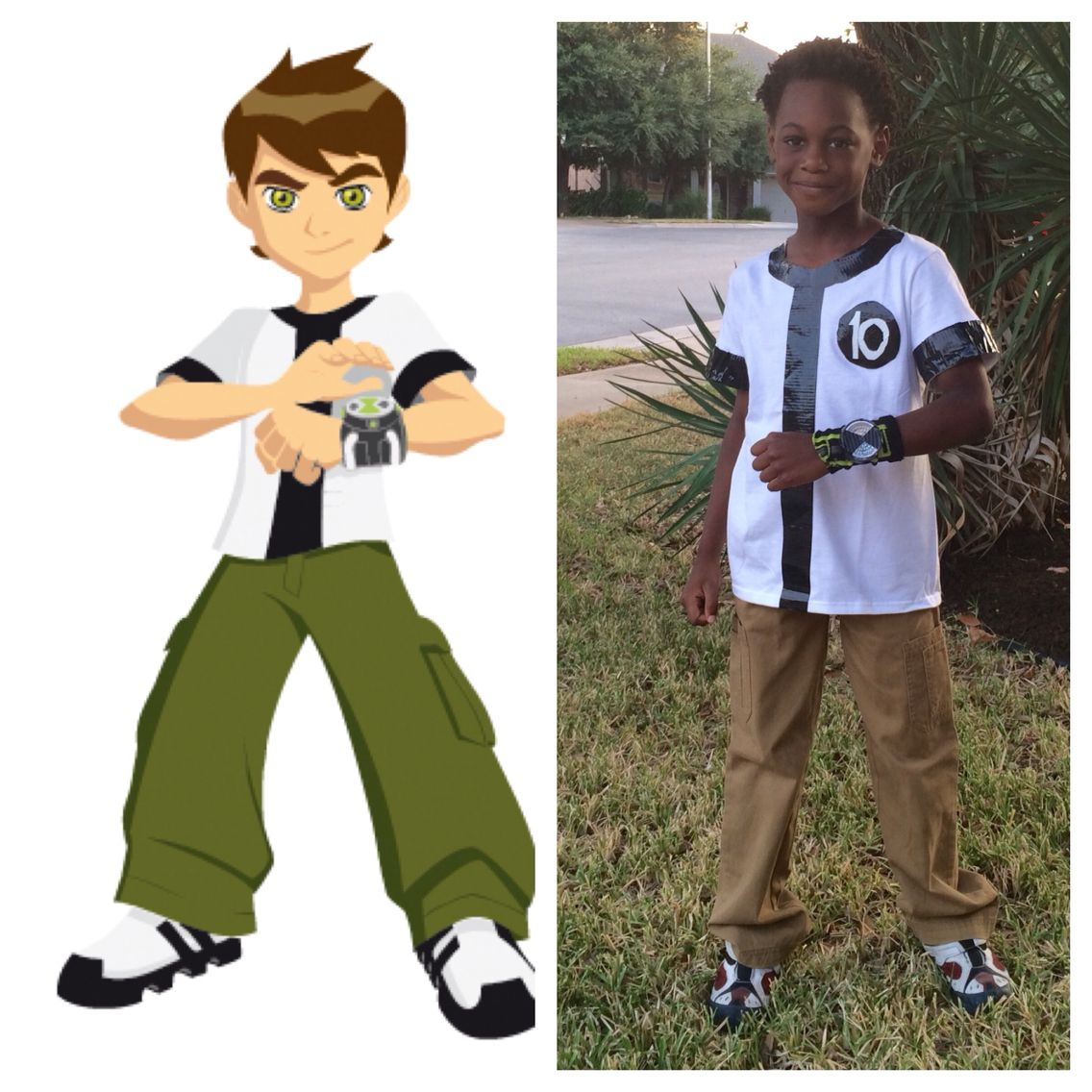DIY Ben 10 Halloween Costume. Made With Duct Tape, A Sock