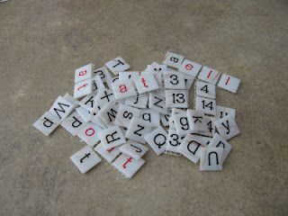 DIY Letter Tiles - quick, relatively easy, and inexpensive
