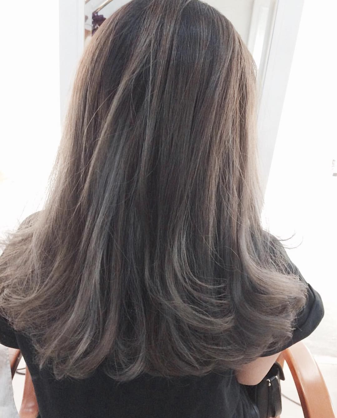 Nice awesome ash brown hair u the best variation аnd coloring