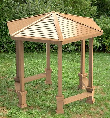 Hexagonal Garden Gazebo With Benches Building Plans Diy Instructions Pergola Plans Gazebo Pergola Patio