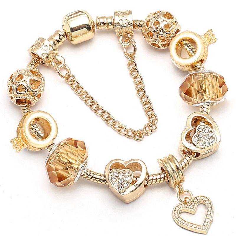 Baopon Dropshipping New Famous Brand Jewelry Women Charm Bracelet 2018 Fine Gold Bracelets Pulseras Mujer Review