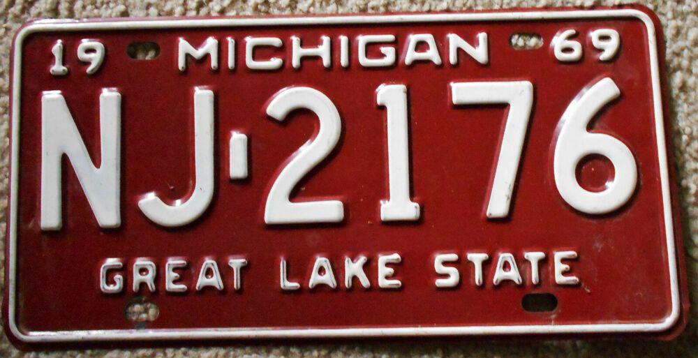 Great Lakes Michigan Metal Novelty License Plate