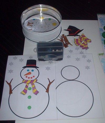 Le jeu du bonhomme de neige chanson et comptine pinterest le bonhomme de neige le - Activite hiver maternelle ...