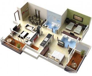 تصاميم شقق كروكي شقق سكنيه خرائط هندسية شقق مخطط هندسي شقة مخططات تصميم شقق Home Design Plans House Plans Southern Living House Plans