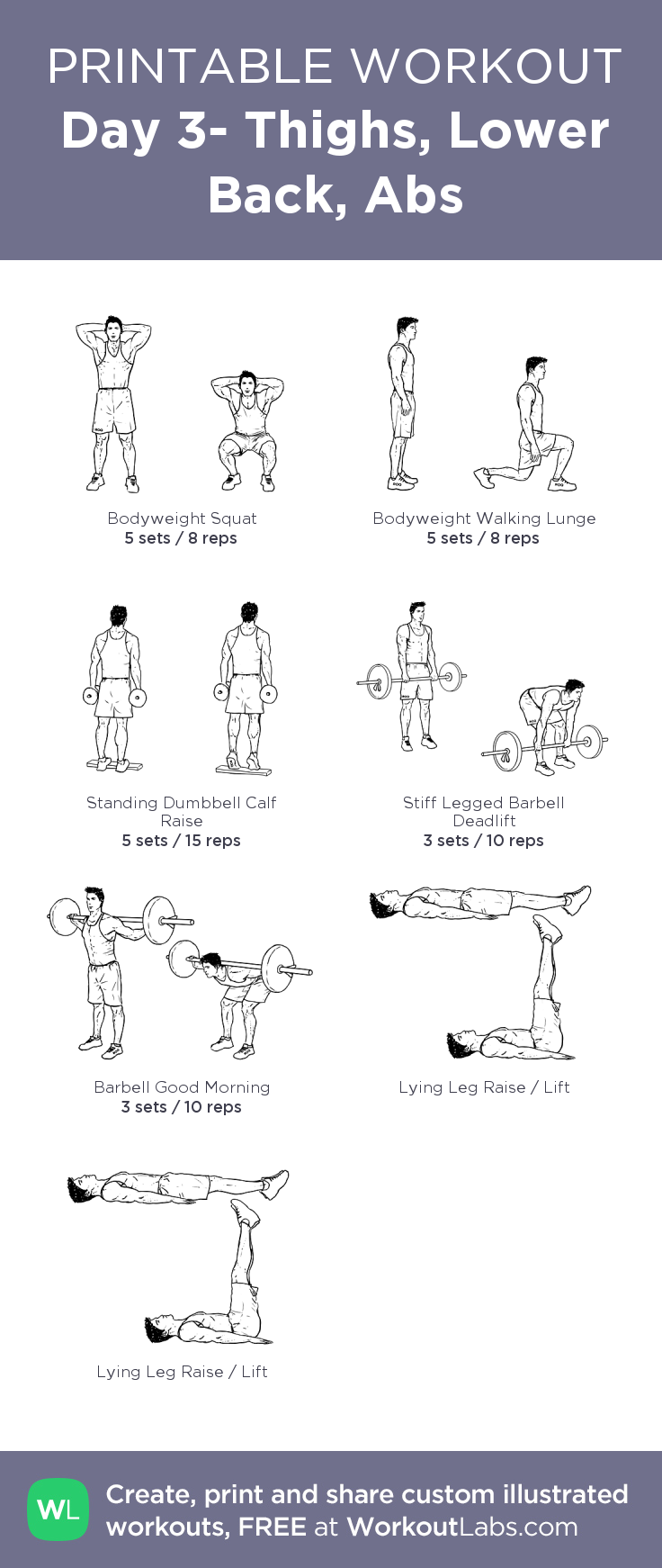 Day 3 Thighs Lower Back Abs